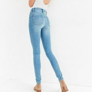 BDG High Rise Twig Skinny Jeans High Waisted 90s Light Wash Urban Outfitters